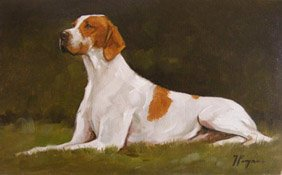 Portrait of a pointer by John Payne