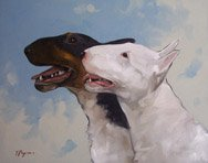 Portrait of two dogs by John Payne